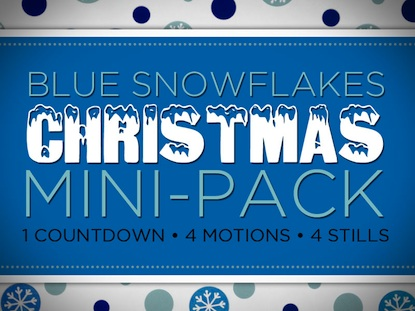 BLUE SNOW FLAKES MINI-PACK