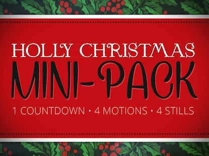 HOLLY CHRISTMAS MINI-PACK