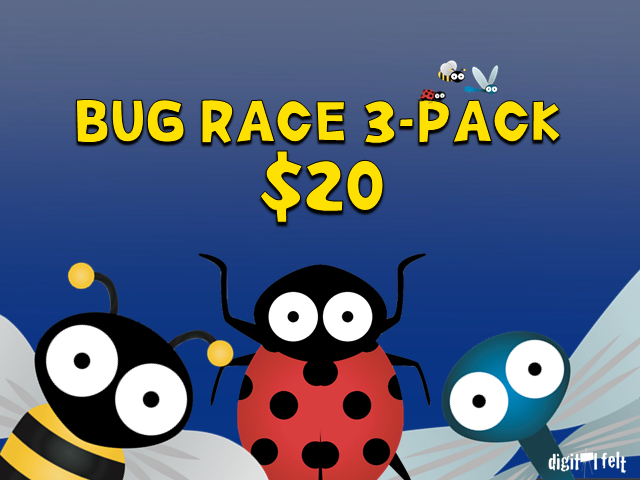 BUG RACE: 3 PACK