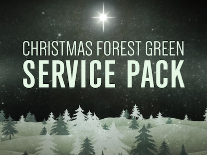 CHRISTMAS FOREST GREEN SERVICE PACK