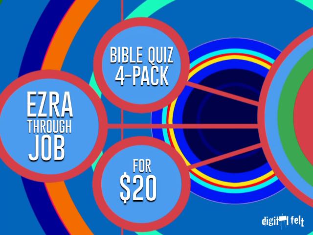 EZRA-JOB BIBLE QUIZZES: 4 PACK