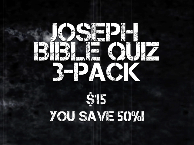 JOSEPH BIBLE QUIZ 3 PACK