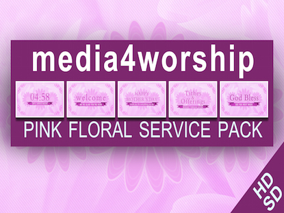 PINK FLORAL SERVICE PACK