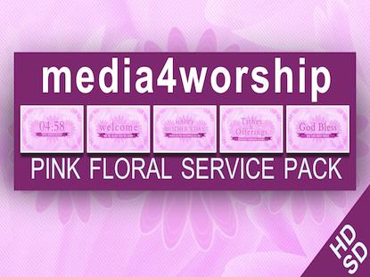 PINK FLORAL SERVICE PACK