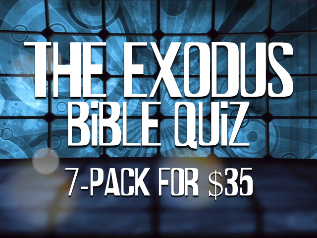 THE EXODUS BIBLE QUIZ: 7 PACK