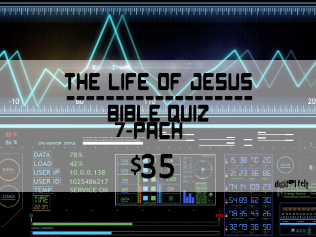 LIFE OF JESUS: BIBLE QUIZ 7 PACK
