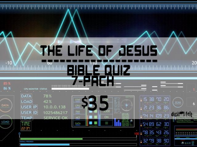 LIFE OF JESUS: BIBLE QUIZ 7 PACK