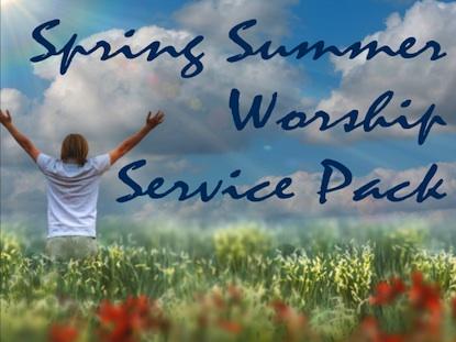 SPRING SUMMER WORSHIP SERVICE PACK 1