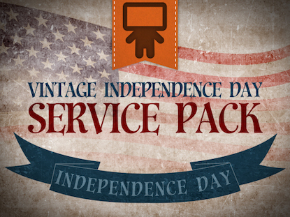 VINTAGE INDEPENDENCE DAY SERVICE PACK
