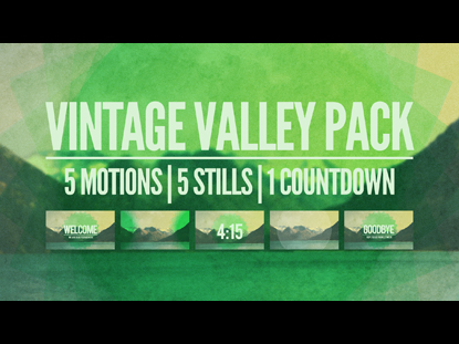 VINTAGE VALLEY PACK
