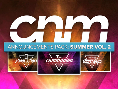 ANNOUNCEMENTS PACK: SUMMER VOL.2