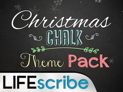 CHRISTMAS CHALK THEME PACK
