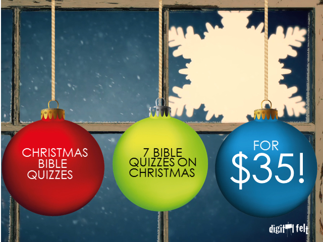 THE CHRISTMAS STORY BIBLE QUIZ: 7 PACK