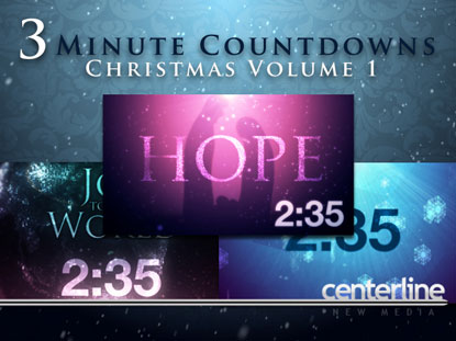 3-MINUTE COUNTDOWNS: CHRISTMAS VOLUME 1