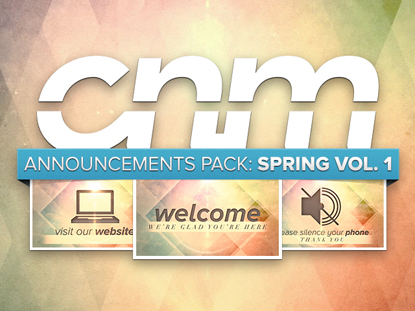ANNOUNCEMENTS PACK: SPRING VOL. 1
