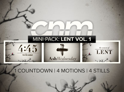 MINI PACK: LENT VOLUME 1