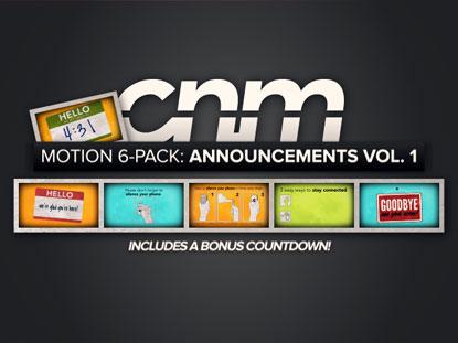 MOTION 6-PACK: ANNOUNCEMENTS VOL. 1