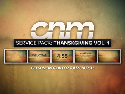 SERVICE PACK: THANKSGIVING VOLUME 1