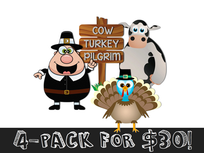 COW TURKEY PILGRIM PACK