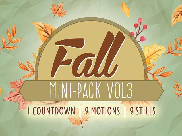 FALL MINI-PACK VOL 3
