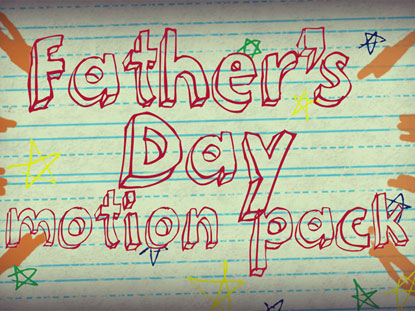 HAND-DRAWN FATHER'S DAY MOTION PACK