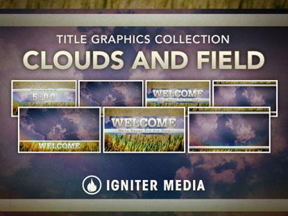 CLOUDS AND FIELD TITLE GRAPHIC COLLECTION