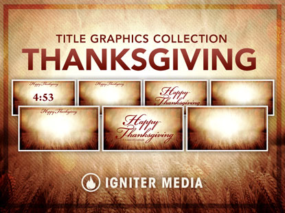 THANKSGIVING TITLE GRAPHICS COLLECTION