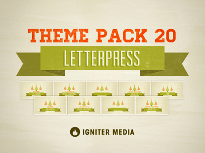 THEME PACK 20: LETTERPRESS