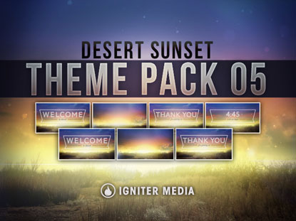 THEME PACK 05: DESERT SUNSET