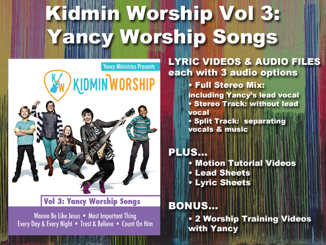 KIDMIN WORSHIP VOL 3: YANCY WORSHIP SONGS