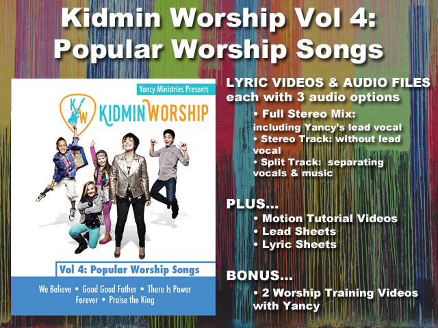 KIDMIN WORSHIP VOL 4: POPULAR WORSHIP SONGS
