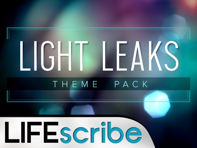 LIGHT LEAKS THEME PACK