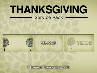 THANKSGIVING SERVICE PACK