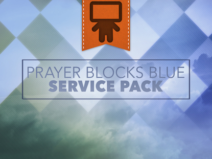 PRAYER BLOCKS BLUE SERVICE PACK