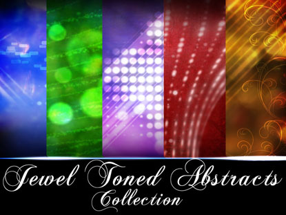 JEWEL TONED ABSTRACTS COLLECTION