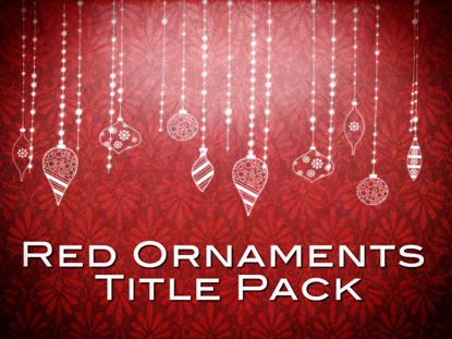 RED ORNAMENTS TITLE PACK