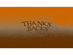 THANKS BACKS WIDE COLLECTION