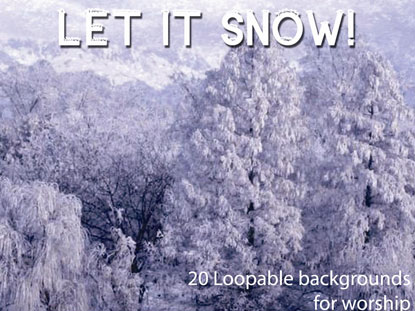 BACKGROUNDS EXPRESS PACK: LET IT SNOW