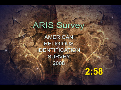 AMERICAN RELIGIOUS SURVEY COUNTDOWN
