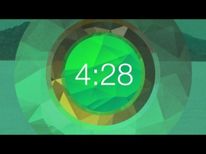 GREEN POLYGONAL CIRCLE COUNTDOWN