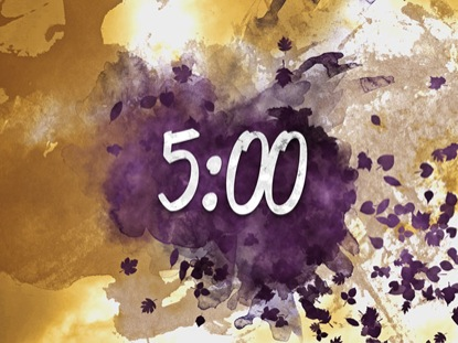 AUTUMN WATERCOLOR COUNTDOWN TIMER