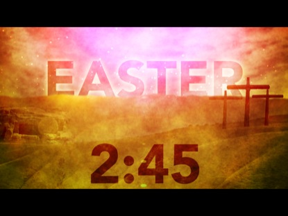 EASTER MORNING COUNTDOWN