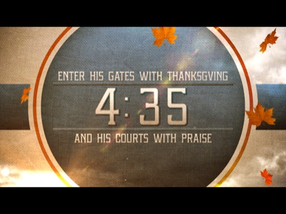THANKSGIVING PRAISE COUNTDOWN