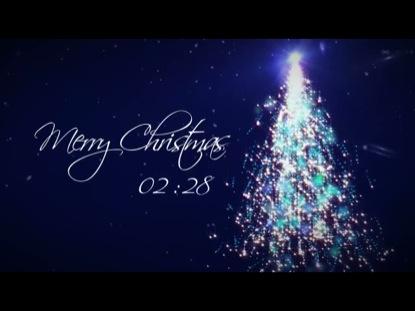 MERRY CHRISTMAS SPARKLING TREE COUNTDOWN