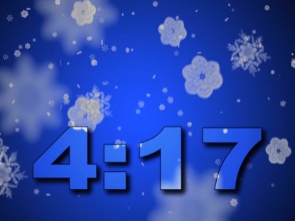 SNOWFLAKES ON ICE BLUE COUNTDOWN