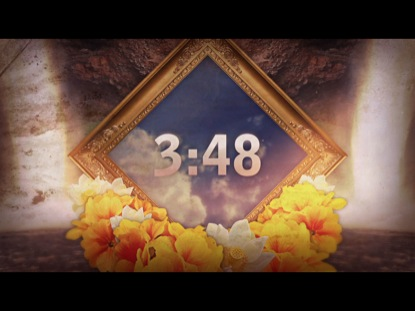 WATERFALL FLOWERS FRAME COUNTDOWN