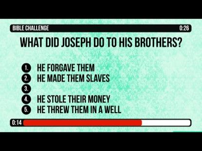 BIBLE CHALLENGE COUNTDOWN 10 - JOSEPH