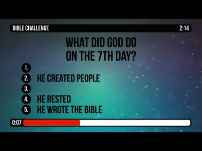 BIBLE CHALLENGE COUNTDOWN 2 - CREATION