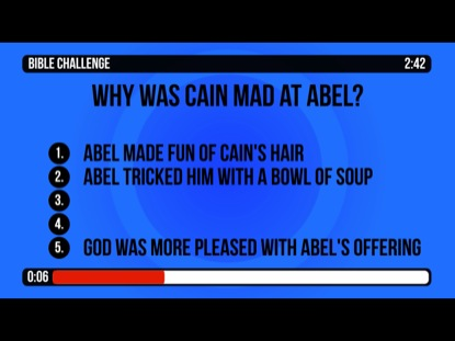 BIBLE CHALLENGE COUNTDOWN 4 - CAIN AND ABEL