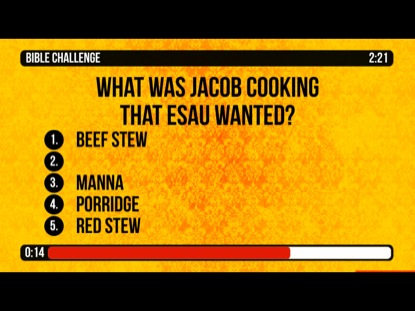 BIBLE CHALLENGE COUNTDOWN 8 - JACOB AND ESAU